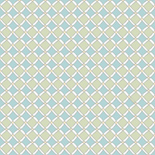 Vector Blue Green Peach Diamonds On White. Background Seamless Repeat Pattern For Textiles, Cards, Manufacturing, Wallpapers, Print, Gift Wrap And Scrapbooking.
