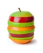 Stack of sliced fruits