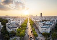 Paris View From Arc De Trimphe...