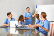canvas print picture - Group of students at medical university