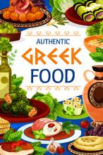Greek Food Of Vegetable, Seafo...