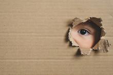 A Child Eye Looking Through A ...