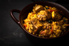 Large Portion Of Pilaf In A Cl...