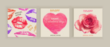 Valentines Day Banners. Social...
