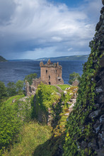 The Summer View Of Ruins Of The Urquhart Castle And Loch Ness