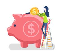 Woman Investing Money For Futu...