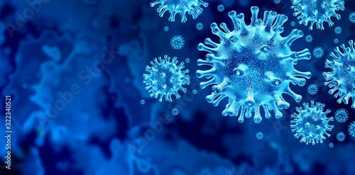 Obraz Coronavirus Virus Outbreak - fototapety do salonu