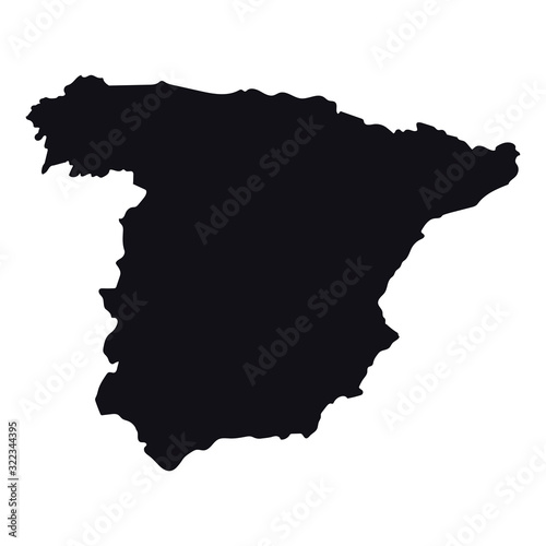 Fotomural High detailed vector map - Spain
