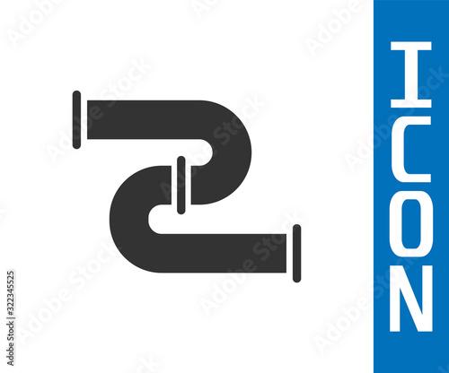 Fotografia Grey Industry metallic pipe icon isolated on white background