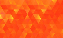 Abstract Orange Low Poly Background, Crystal Or Diamond Concept, Can Be Used For News Headline, Wallpaper, Flyer, Sport Background.
