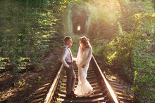 Green Tree Tunnel And Couple I...