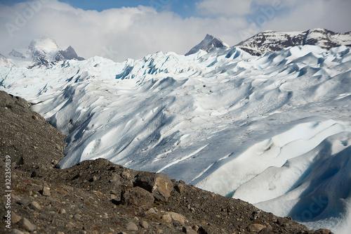Seracs in Perito Moreno Glaciaer in Argentinian patagonia Canvas Print
