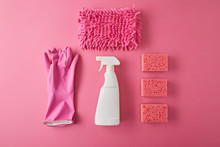 Flat Lay With Spray Bottle, Sp...