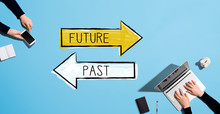 Future Or Past With People Wor...