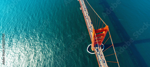 Aerial view of the Golden Gate Bridge in San Francisco, CA Canvas Print