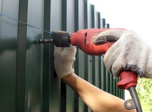 Installation Of A Metal Fence....