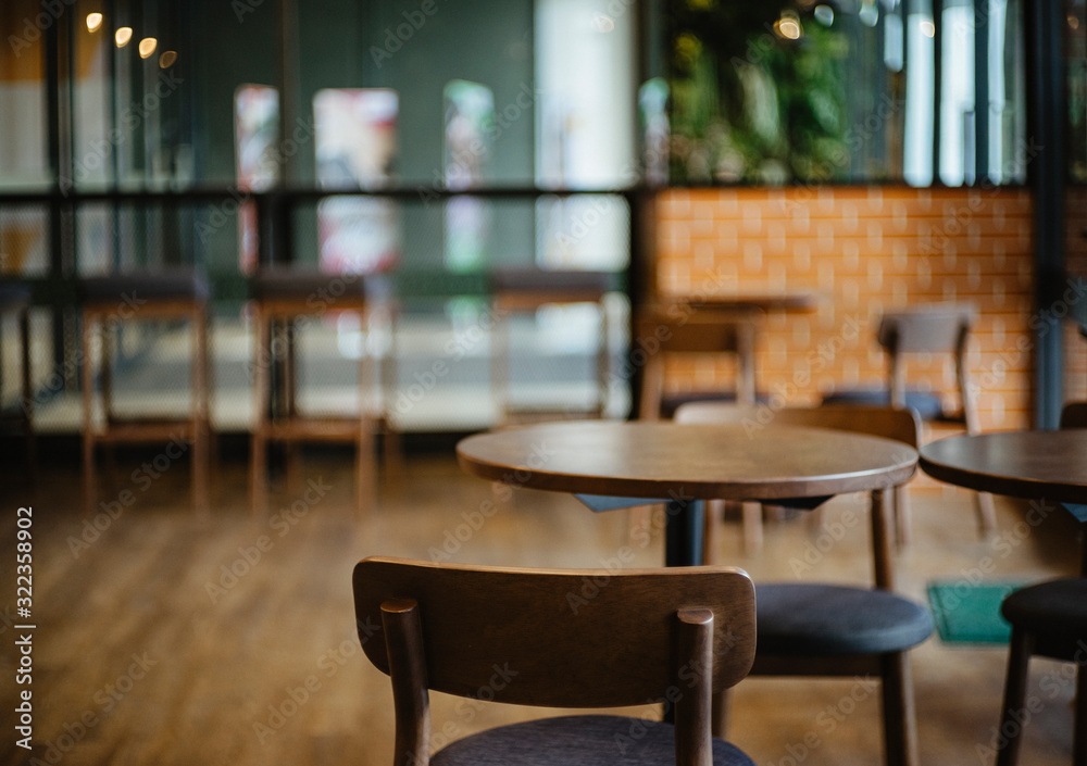 Fototapeta Chair Interior of a modern restaurant or bar