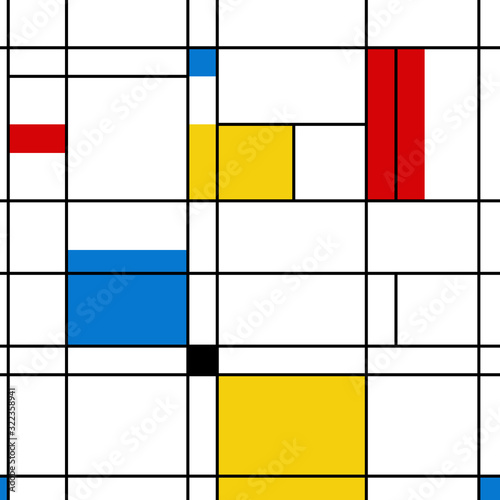 Tela Mondrian seamless pattern