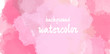 watercolor pink valentines day background.