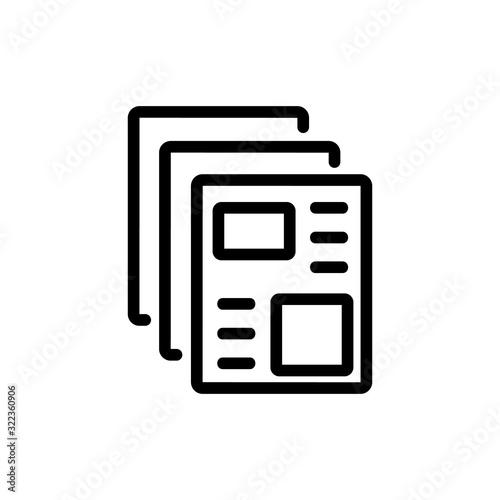 newspaper icon vector Canvas Print