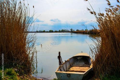 Fotografia Boat on fishpond