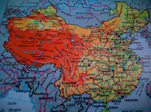 """A Map Of """"China"""" Taken From Th..."""