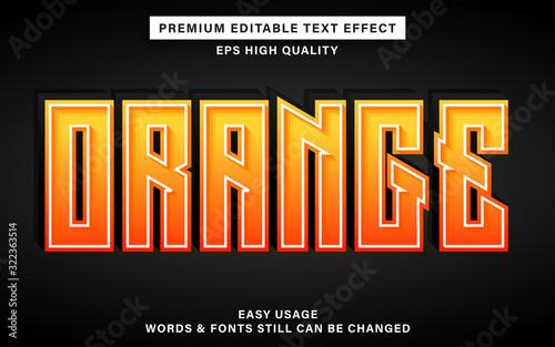 Fototapeta Orange text effect obraz
