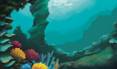 Fototapeta na wymiar coral reef with fish