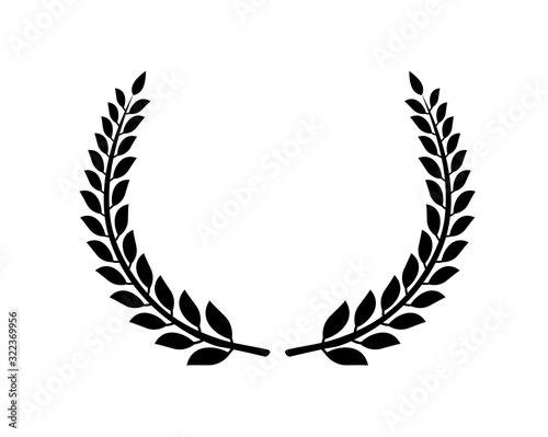 Circular laurel foliate vector icon Slika na platnu