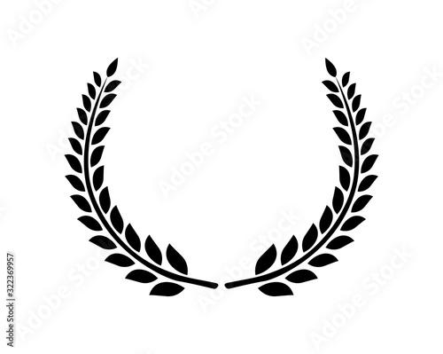 Circular laurel foliate vector icon Canvas-taulu