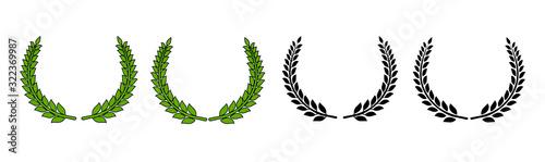 Circular laurel foliate vector icon Fototapeta