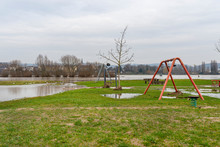 A Playground On The Banks Of A...