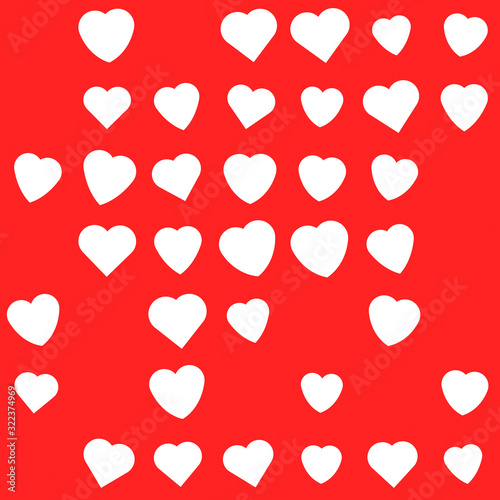 Photo Cute Valentine hearts seamless pattern