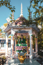 Buddhist Altar In The Gazebo