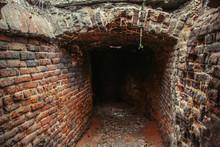Historical Underground Red Brick Passage Under Old City