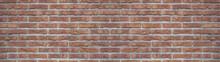 Brown Rustic Brick Wall Texture Banner Panorama