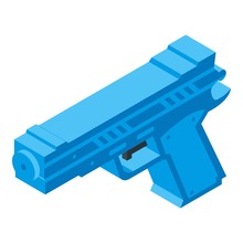 Squirt Gun Icon. Isometric Of ...