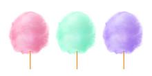 Cotton Candy Set. Realistic Pi...