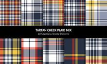 Tartan Plaid Pattern Set. Seam...