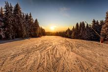 View Of A Ski Resort Piste At ...