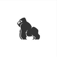 Gorilla Logo Design Icon Vector