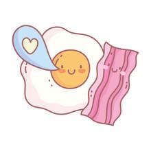 Fried Egg Bacon Love Bubble Me...