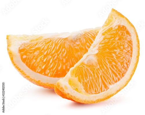 Obraz na płótnie orange slices isolated on a white background