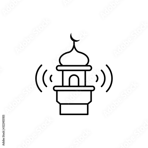 Photo Adhan call, mosque icon