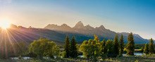 Sunset Over The Grand Tetons I...