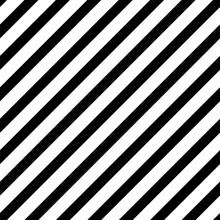 Bold Diagonal Black Stripe Sea...