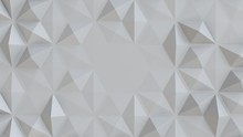 White Abstract Tiles Polygonal...