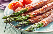 Asparagus Stalks Wrapped In Ham