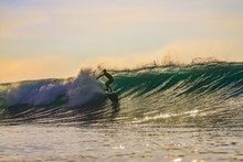 Surfer In The Evening, Bali, I...