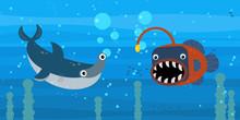 Happy Cartoon Underwater Scene...
